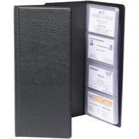 Image for Goldline 64Pkt Bus/Card Holder Blk CBC4P