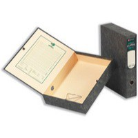 Rexel Classic Box File with Lock Spring Foolscap Plain