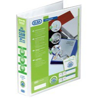 Image for Elba Panorama Presentation Binder PVC 3 Cover Pockets 4 D-Ring 40mm A4 White Ref 400001300 [Pack 10]
