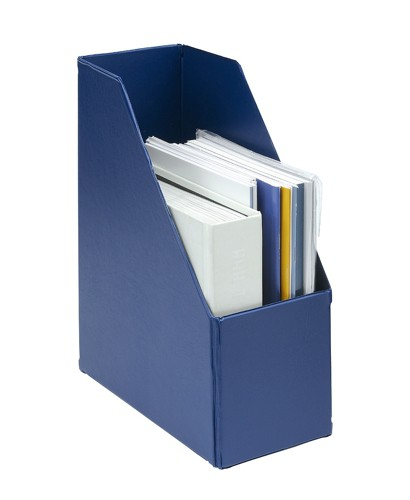 Magazine Rack File Plastic Jumbo 110mm Blue A4 Pack 5