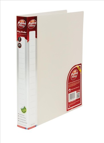 Pukka Natural Ring BInder Polypropylene 2 O-Ring 25mm Size A4 Clear Pack 10