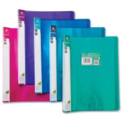 Pukka Display Book Flexible Polypropylene 24 Pockets A4 Assorted Pack 10
