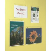 Wall Sign Holder Pre Drilled Landscape A4 Clear
