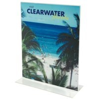 Stand Up Sign Holder Double Sided Portrait A5 Clear