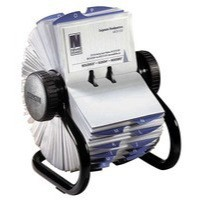 Image for Rolodex Classic 200 Rotary Business Card Index File with 200 Sleeves 24 A-Z Index Tabs Black Ref 67236