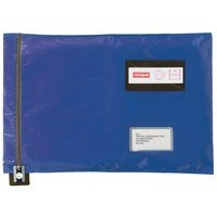Image for Versapak Mailing Pouch Durable PVC-coated Nylon 355x386mm Blue Ref CVF2BL