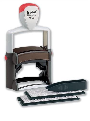 Trodat 5253 Professional Line D-I-Y Stamp Kit Ink Tweezers and Lettering 3mm 4mm 6 Line Code 74513