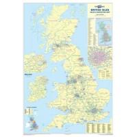 Image for Map Marketing Sales & Marketing Map Unframed 1200x830mm Ref UKM