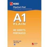 Nobo Flipchart Pad Perforated 40 Sheets A1 Plain Code 34631165