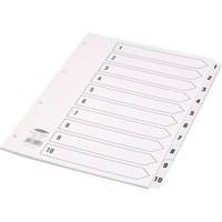 Concord Classic Index Mylar-reinforced Punched 4 Holes 1-10 A4 White Code 00901