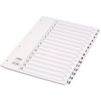 Concord Classic Index Mylar-reinforced Punched 4 Holes 1-15 A4 White Code 01401