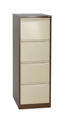 Bisley BS4E Filing Cabinet Flush Front 4 Drawer Coffee & Cream