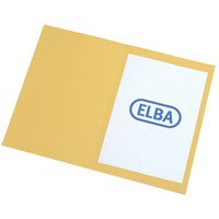 Elba Square Cut Folder Recycled Heavyweight 290gsm Foolscap Yellow