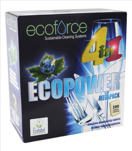 Ecoforce 4 in 1 Dishwasher Tablets Box 100 Code 38018