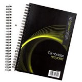 Cambridge A5 Every Day Wirebound Notebook Recycled Code 400020509