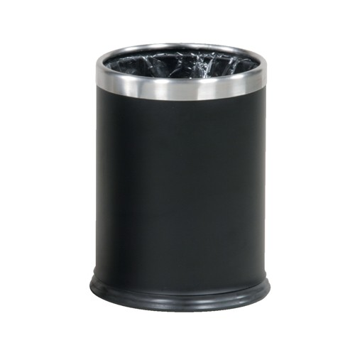 Rubbermaid Hide-A-Bag Receptacle Stainless Steel Black Bin Code FGWHB14EBK