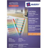 Avery ReadyIndex Dividers L7111-15 A4 1-15 Numeric Assorted Colours Ref 01965501