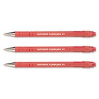 PaperMate Flexgrip Ultra Ball Point Pen Medium 1.0mm Tip 0.7mm Line Red Code S0190133