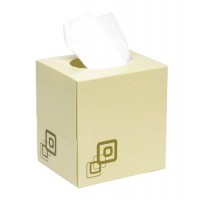 Image for 5 Star Facilities Luxury Facial Tissues Two-ply Cube Box 70 Sheets per box White [24 Boxes]