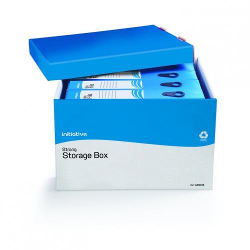 Initiative Strong File-Away Storage Boxes 330w x 405d x 260h mm (PR3B)