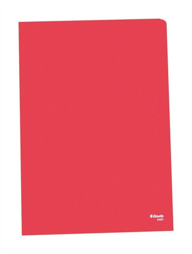 Esselte Quality A4 Open 2 Side Folder 0.11mm Polypropylene Red Box 100