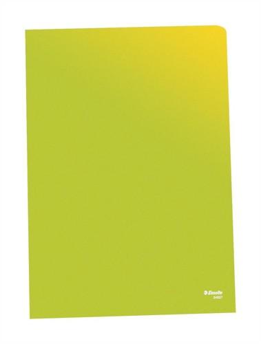 Esselte Quality A4 Open 2 Side Folder 0.11mm Polypropylene Green Box 100