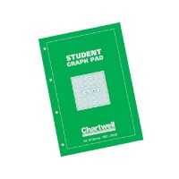 Image for Chartwell Student Graph Pad 70gsm 0.1inch 0.5inch 1inch Grid 50 Sheets A4 Green Cover Ref J104B [Pack 10]