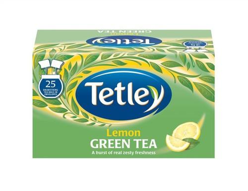 Tetley Tea Bags Green Tea with Lemon Individually Wrapped Pack 25 Code A06680