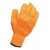 Image for Knitted Grip Gloves [Pair] High Grip PVC Lattice One Size
