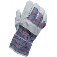 Image for CPD Work Gloves [Pair] Rigger Style All-purpose Leather and Cotton 51mm Cuff One Size Ref VBLL17