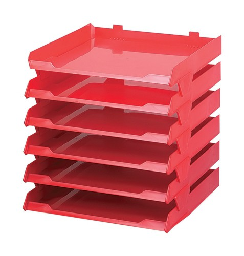Avery Paperstack Self Stacking Letter Tray A4 250x320x300mm Red Code 5336RED