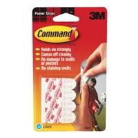 Image for 3M Command Adhesive Poster Strips Clean-removing Holding Capacity 0.45kg Ref 17024 [Pack 12]