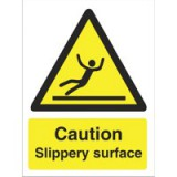 Stewart Superior Caution Slippery Surface Sign Self Adhesive Vinyl 150x200mm Code WO134SAV