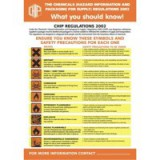Stewart Superior COSHH Laminated Guidance Poster 420x595mm