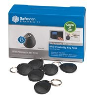 Image for  Safescan Key Fobs Pack RF-110 Radio Frequency Identification for TA-810 & TA-850 Ref 125-0342 Pack 25