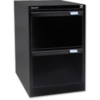 Image for Bisley BS2E Filing Cabinet 2-Drawer H711mm Black Ref BS2E-33