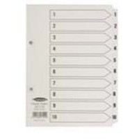 Concord Classic Index Mylar-reinforced Punched 2 Holes 1-10 A5 White Code 07101