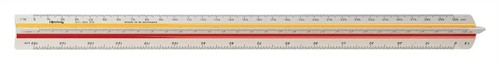 Rotring Ruler Triangular Reduction Scale 6 Surveying 1-25 to 1-2500 2 Colr Flutings Code S0220721