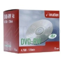 Image for Imation DVD-RW Rewritable Disk Cased 4x Speed 120min 4.7GB Ref i21061 [Pack 10]