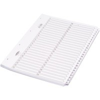 Concord Classic Index Mylar-reinforced Punched 4 Holes 1-50 A4 White Code 05501