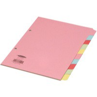 Concord Subject Dividers 230 Micron 10-Part A5 Code 72199/J21