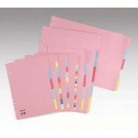 Concord Subject Dividers 230 Micron 5-Part A4 Code 71199/J11