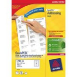 Avery Laser Labels 63.5 x 72mm Pack of 1200 Labels FSC Code L7164-100