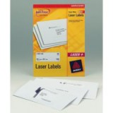 Avery Laser Labels 199.6x289.1mm 1 Per Sheet White 100 Labels FSC Code L7167-100