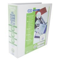 Elba Presentation Ring Binder PVC 4 D-Ring 65mm Capacity A4 White Ref 400008673 [Pack 4]