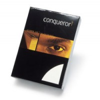 Image for Conqueror Paper Texture Laid Diamond White FSC4 A4 210x297mm 100Gm2 Watermarked Pack 500