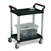Image for Barton Utility Tray Trolley Standard 2- Shelf Capacity 100kg W460xD750xH940mm Ref WHTT2SS