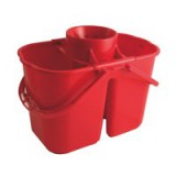 Charles Bentley Duo Mop Bucket Colour-coded 7 and 8 Litre Sections Total 15 Litre Red Ref SPC/DMB/R