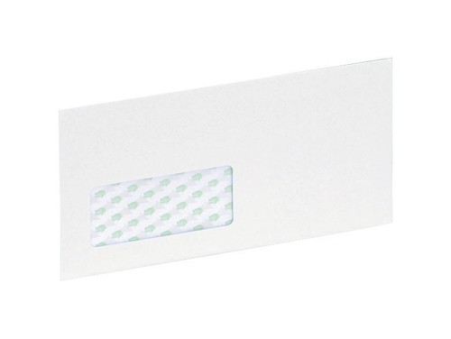 Ecolabel Envelopes Recycled Wallet with Window Press Seal 90gsm DL White Ref  [Pack 1000]