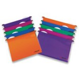 Rexel Multifile Extra Suspension File Polypropylene V-base 30mm Foolscap Assorted Ref 2102574 [Pack 10]